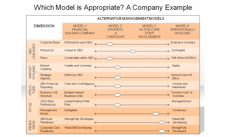 Which Model is Appropriate? A Company Example