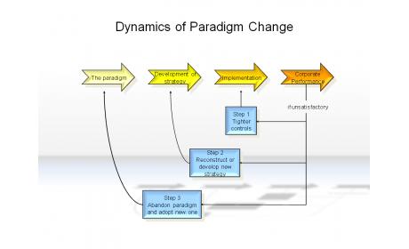 Dynamics of Paradigm Change