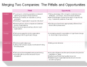 Merging Two Companies: The Pitfalls and Opportunities