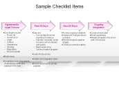 Sample Checklist Items