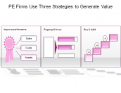 PE Firms Use Three Strategies to Generate Value