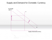 Supply and Demand for Domestic Currency
