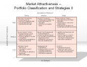 Market Attractiveness - Portfolio Classification and Strategies II