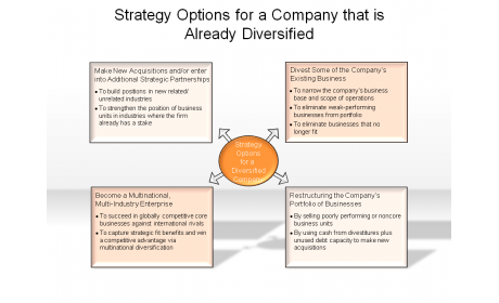 Strategy Options for a Company that is Already Diversified