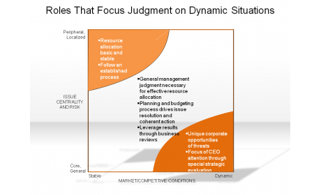 Roles That Focus Judgment on Dynamic Situations