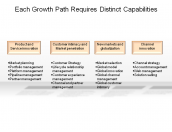 Each Growth Path Requires Distinct Capabilities