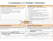 Considerations on Strategic Partnership