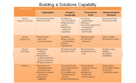 Building a Solutions Capability
