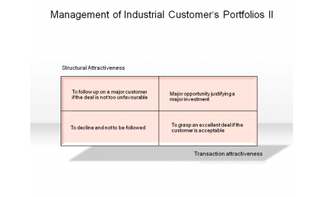 Management of Industrial Customer's Portfolios II