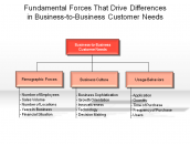 Fundamental Forces That Drive Differences in Business-to-Business Customer Needs