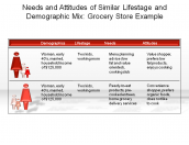 Needs and Attitudes of Similar Life stage and Demographic Mix: Grocery Store Example