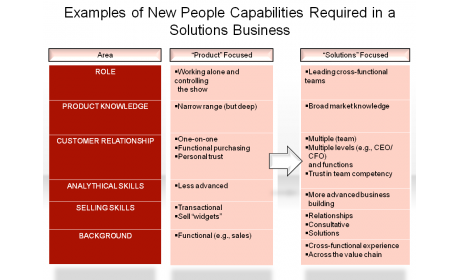 Examples of New People Capabilities Required in a Solutions Business