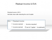 Risidual Income & EVA