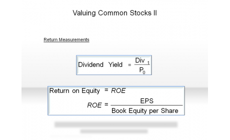 Valuing Common Stocks II