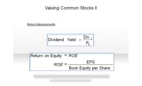 Valuing Common Stocks II