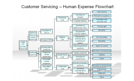 Customer Servicing - Human Expense Flowchart