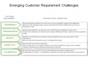 Emerging Customer Requirement Challenges