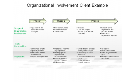 Organizational Involvement Client Example