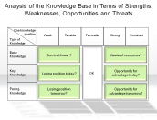 Analysis of the Knowledge Base in Terms of Strengths, Weaknesses, Opportunities and Threats