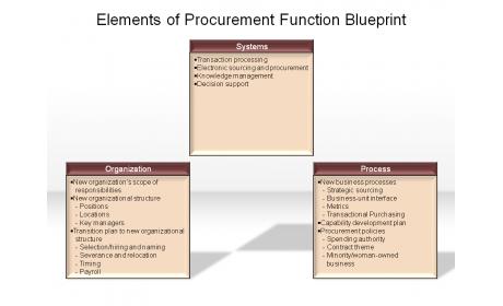 Elements of Procurement Function Blueprint