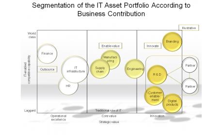 Segmentation of the IT Asset Portfolio According to Business Contribution