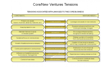 Core/New Ventures Tensions