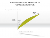 Positive Feedbacks Should not be Confused with Growth